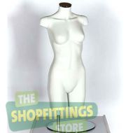 Female Torso Mannequin - No Head No Arms White