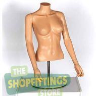 Female Torso Form Mannequin No Head With Arms Fleshtone