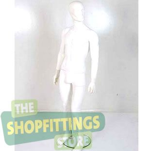 Male White Mannequin With Abstract Style Face 1